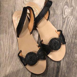 Jack Rogers black slingback sandals 9.5